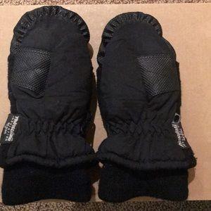 Boy's black thinsulate mittens 4-7 knit cuff warm